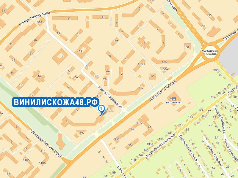 Карта проезда — Винилискожа
